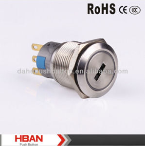 Hban CE RoHS (19mm) 2position 3position Metal Key Switch pictures & photos