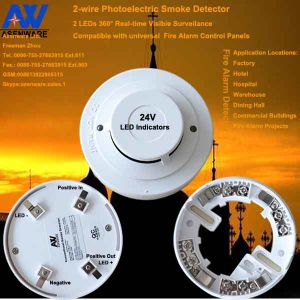 Home Security Fire Alarm Smoke Detector 24V with Competitive Price pictures & photos
