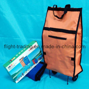 Portable Reusable Durable Stretching Supermarket 600d Polyester Trolley Cart Bag pictures & photos