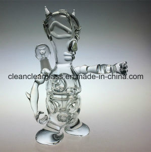 Ccg New Design Demon Fab Egg Oil Rig Glass Water Pipe with Tyre Perc pictures & photos