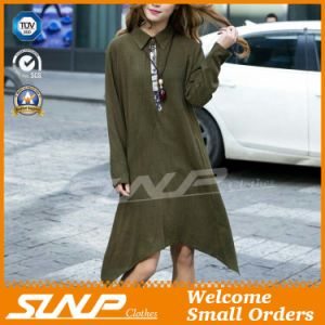 Pure Color Loose Long-Sleeved T-Shirt Dress