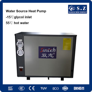 -25c Winter Heating Room 10kw/15kw/20kw/25kw Brine Water to 55c Hot Water Geothermal Inverter Heat Pump (SFXRS-10I) pictures & photos