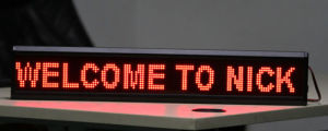 LED Panel Moving Message LED Sign P7.62 pictures & photos