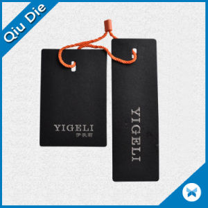 High Quality Black Hang Tag with Silver Hot Stamping pictures & photos