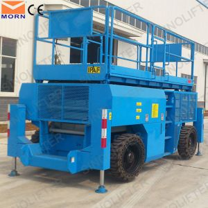 Hot Sale Diesel Power 4 Wheel Drive Industrial Scissor Lift pictures & photos