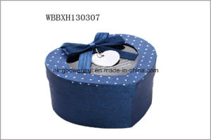 Printed Paper Cardboard Jewellery Gift Box with PVC Window and Ribbon pictures & photos
