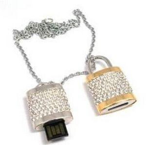 Lock Shape Push Pull USB Flash Drive, Jewelry USB Flash Stick