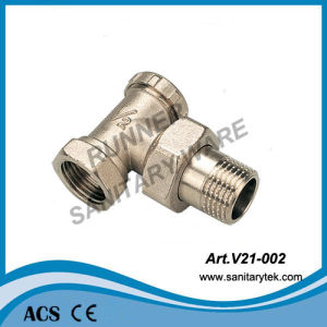 Angle Radiator Valve with Lockshield (V21-002) pictures & photos