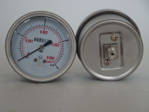 63mm Stainless Steel 4kpa Sulfur Resistant Bellows Pressure Gauge pictures & photos