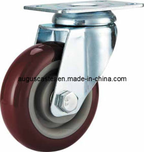 Medium Duty/Swivel Purple PU Caster
