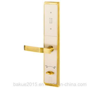 High Security Keyless Touchscreen and Fingerprint Door Lock Plated in Gold pictures & photos