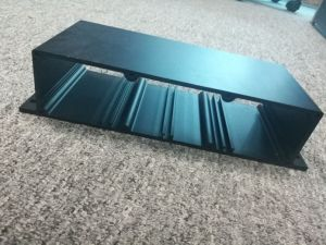 Customized 6000 Alloy Anodised Black Aluminum Extruded Profile pictures & photos