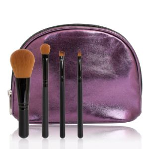 4PCS Synthetic Hair Makeup Brush with Purple Case pictures & photos