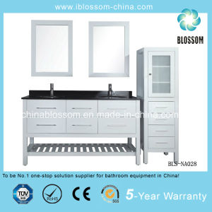 Sanitary Ware Bathroom Vanity MDF Double Mirrors Bathroom Cabinet (BLS-NA028) pictures & photos