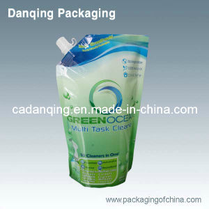 Cleanser Plastic Packaging Bag with Corner Spout (DQ230) pictures & photos
