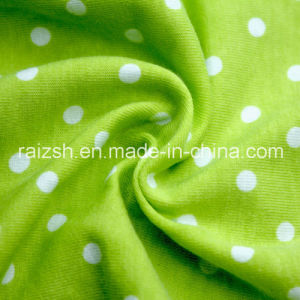 Cotton Printed Knitting Jersey T-Shirt Fabric for Wholesale pictures & photos