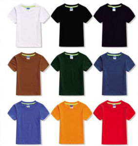 Custom All Sorts of Kid′s T Shirt in Various Colors, Sizes, Material and Logos pictures & photos