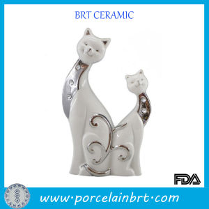 Promotion Cat Shape Ceramic Wedding Decoration for Giftware pictures & photos