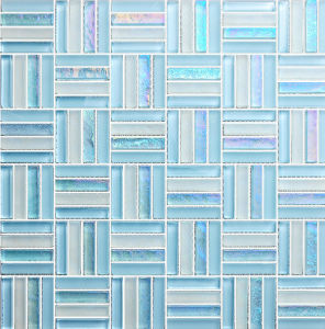 Blue Glass Mosaic for Background Wall/Bathroom Tile pictures & photos