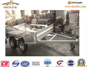 Haylite 8*5 Hot DIP Galvanized Box Trailer on Sale pictures & photos