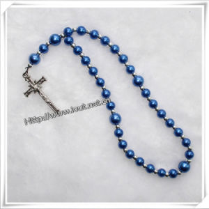 Fashion Handmade Glass Rosary Beads Bracelet and Cross (IO-CB085) pictures & photos