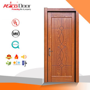 Solid Interior Wooden Safety Door with High Quality (ISO9001 Standard) pictures & photos