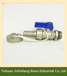 Aluminium Handle with Cap and Chain Small Brass Boiler Ball Valve