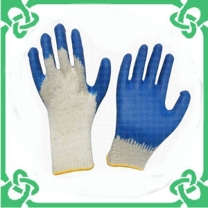 Cotton Latex Safety Glove for Safety Working (GS-101A)