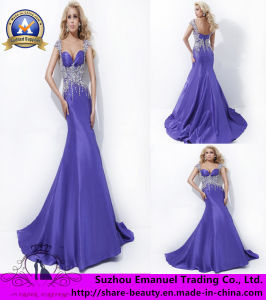 2014 Brand New Purple Empire Crystal Taffeta Evening Dresses Gowns (CK096)