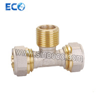 Brass Compression Male Tee Bite Pipe Fittings pictures & photos