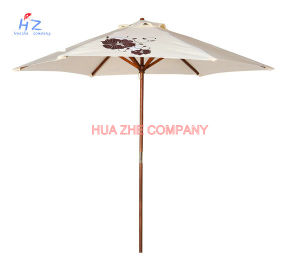 Hz-Um109 Wood Umbrella Wood Paraslo Outdoor Umbrella Beach Umbrella Garden Umbrella pictures & photos