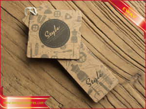 Kraft Printed Hang Tag Garment Paper Hang Tag pictures & photos
