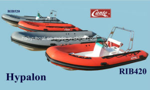 4.2m Fiberglass Inflatable Boats with Hypalon for Fishing Boats, Leisure Boat, Rowing Boats for Military pictures & photos