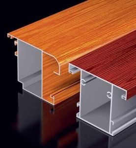 Wood Grain Aluminum Profiles with Thermal-Break Window pictures & photos