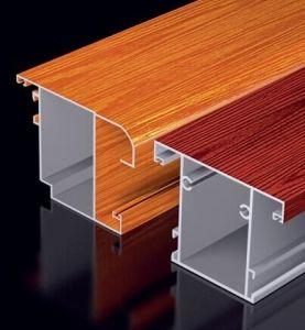 Wood Grain Aluminum Profiles with Thermal-Break Window pictures & photos