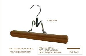 Fsc/BSCI Bamboo Hanger Clamp Extension Hair Hanger pictures & photos