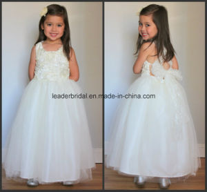Cross Back Princess Dresses Bow Flower Girls Gowns Z1059 pictures & photos
