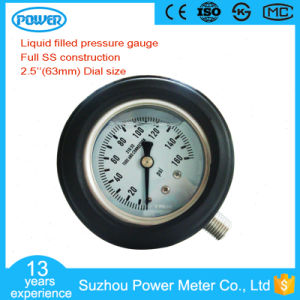 63mm Full Ss Construction Pressure Gauge with Protect Cover pictures & photos