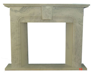 Fireplace White Marble Simple Design (9022) pictures & photos