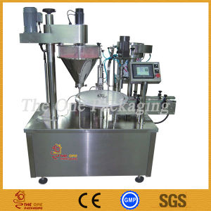 Rotary Powder Filling /Capping Machine/Curry, Paper Powder Filler Capper pictures & photos