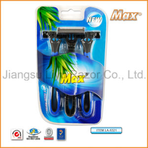 New Triple Stainless Steel Blade Disposable Shaving Razor (LA-6321) pictures & photos