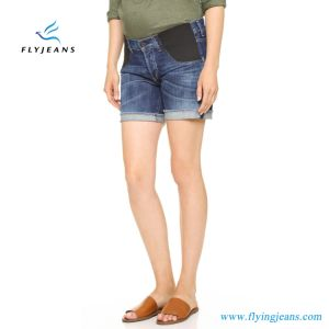 Fashion Design Women′s Maternity Denim Jeans Shorts pictures & photos
