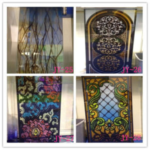 3+3mm Chinese Customized Pattern Safety Stained Glass Plant for Church pictures & photos