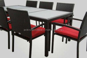Aluminum Tube and Waterproof Wicker Table and Chairs Outdoor Furnitures (FP0275) pictures & photos
