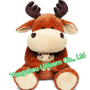 CE Christmas Gift Soft Stuffed Deer Moose Plush Toy pictures & photos