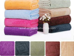Soft Microfiber Embossing Coral Fleece Blanket Wholesale Fleece Blankets pictures & photos