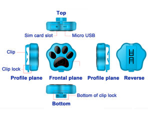 Smart WiFi Pet GPS Tracker with IP66 Waterproof Anti-Lost Dog and Cat pictures & photos
