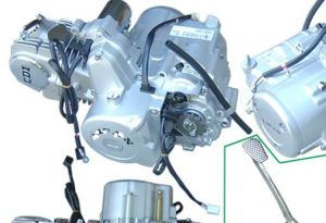 1P52FMI or Complete Engine, 125CC Double Automatic Clutched