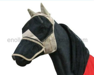 Full Face Mesh Fly Veil with Nose Ext for Horse (E022341)