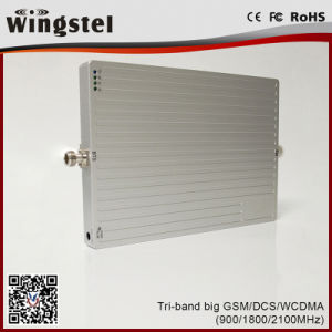 Powerful GSM/Dcs/WCDMA 900/1800/2100MHz Mobile Signal Booster with Antenna pictures & photos